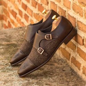 Handmade Double Monk shoes |  Mens Dress