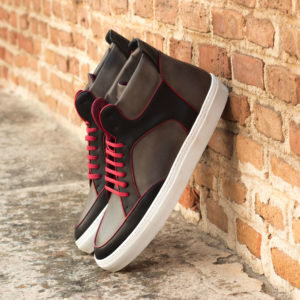 Handmade High Top Multi shoes |  Mens Casual