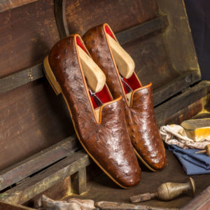Handmade Drake Ostrich shoes |  Exotic Skins