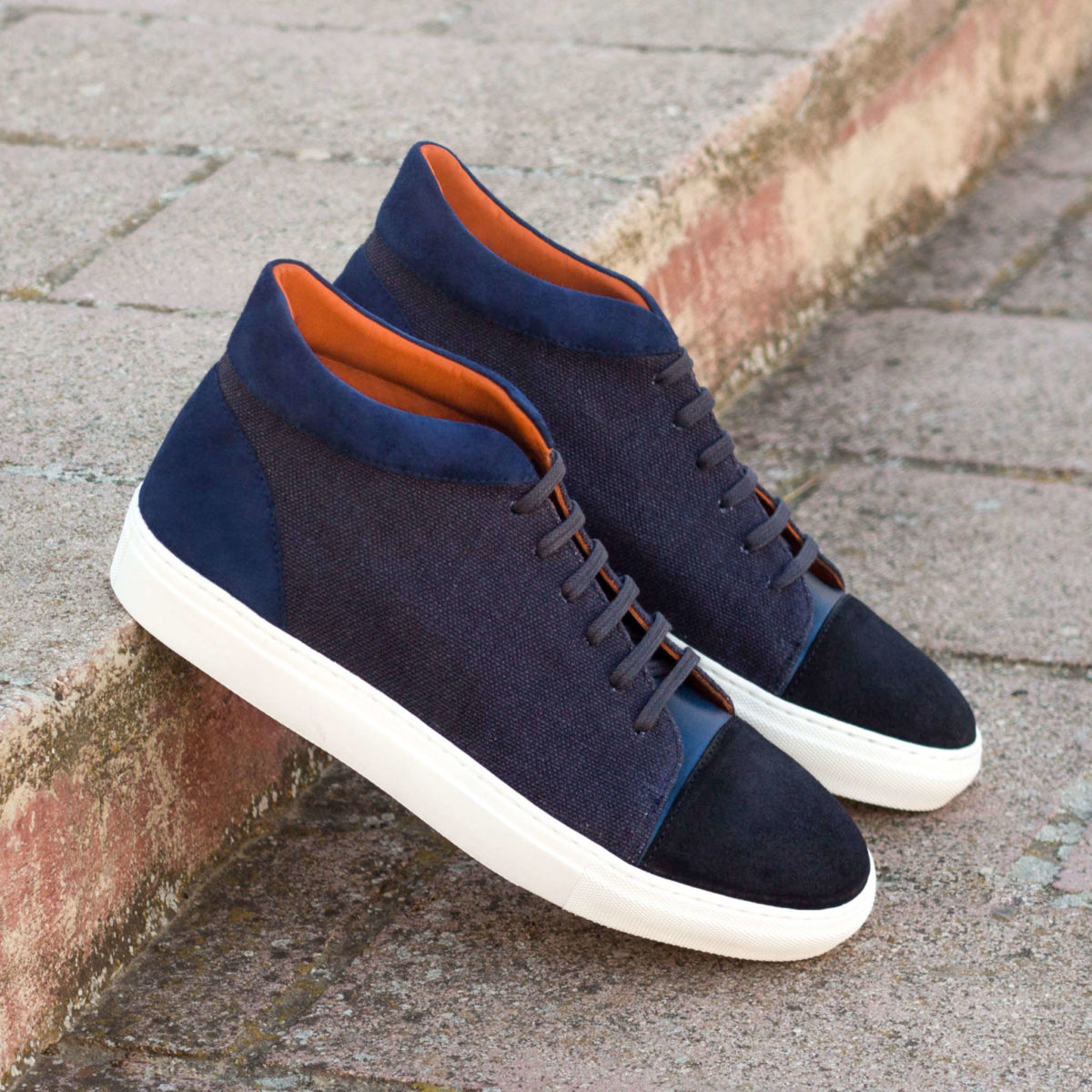 Handmade High Top shoes    Mens Casual