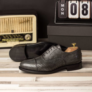 Handmade Oxford Python shoes |  Exotic Skins