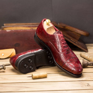 Handmade Oxford Ostrich shoes |  Exotic Skins