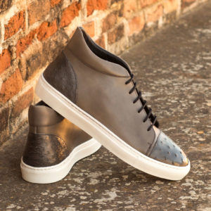 Handmade High Top Ostrich shoes |  Exotic Skins