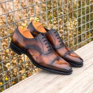 Handmade Oxford shoes |  Goodyear Welted Patina