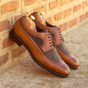 Handmade Longwing Blucher shoes |  Mens Dress