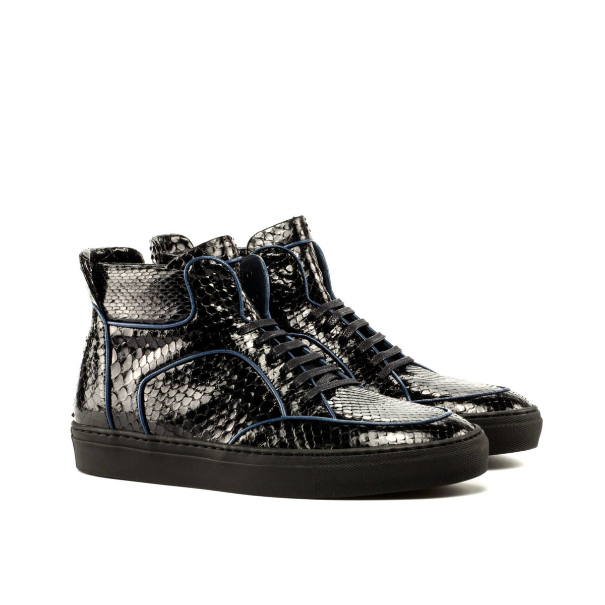 Handmade High Top Multi shoes |  Exotic Skins