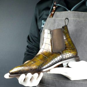 Handmade Croc Cairo Chelsea Boot shoes |  limited Mens Dress